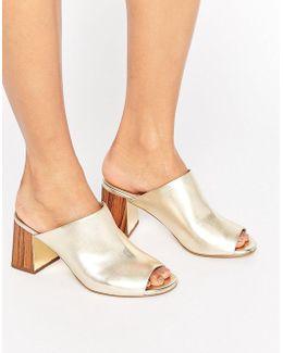 Kg Penny Metallic Mule Sandal
