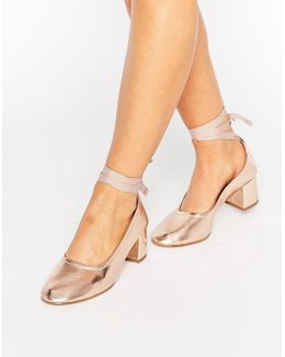 Kg Treacle Ankle Tie Heel Shoe
