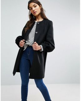 Swing Coat With Bell Sleeve