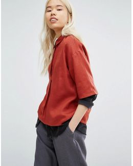 Oversized Shirt With Half Placket