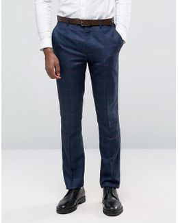 Penguin Formal Navy Check Suit Pants