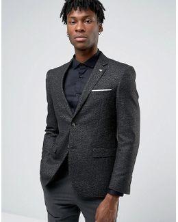 Formal Black And White Fleck Jacket
