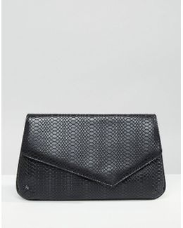 Asymmetric Snake Clutch Bag