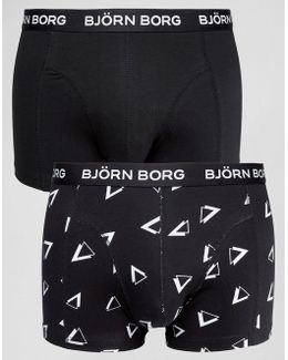 2 Pack Trunks With Triangle Print