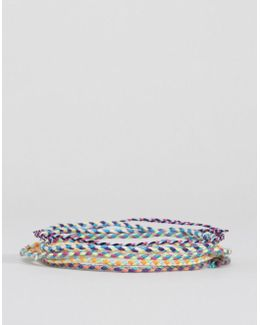 Plaited Fabric Bracelet Pack