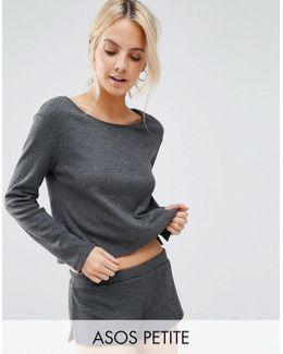 Lounge Ribbed Long Sleeve Boxy T-shirt