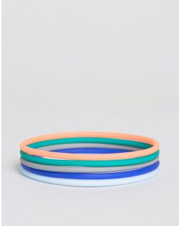 Rubber Bracelet Pack In Pastel