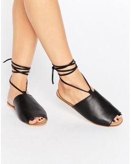 Freed Leather Lace Up Sandals