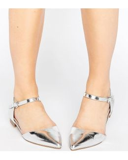 Lilybet Wide Fit Two Part Ballet Flats