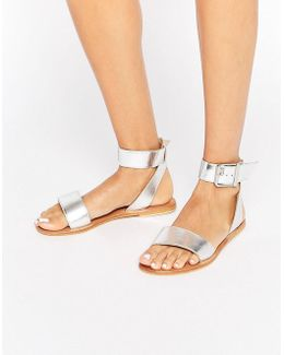 Fleek Leather Two Part Sandals