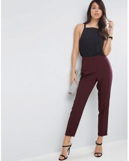 Clean High Waisted Slim Trousers
