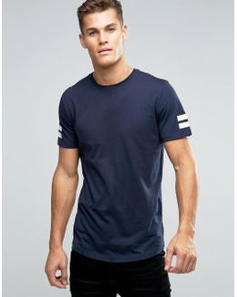 Originals Longline T-shirt With Curved Hem And Arm Stripes