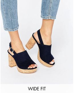 Tammy Wide Fit Heeled Sandals