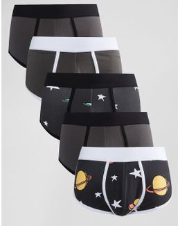 U Bound Hipsters With Space Print 5 Pack Save