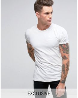 Muscle Fit T-shirt In Grey Exclusive To Asos
