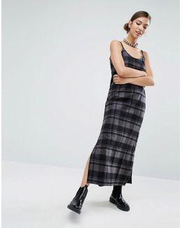 Midi Cami Dress In Tonal Check