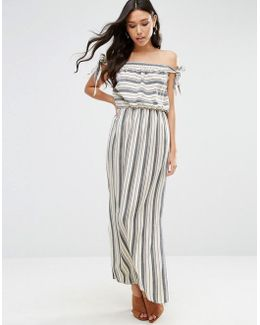 Natural Stripe Maxi Dress