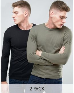 Originals Longline Curved Hem T-shirt 2 Pack Save