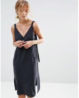 Dungaree Style Slip Dress