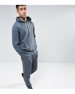Tracksuit Set Skinny Jogger/hoodie In Washed Blue Save