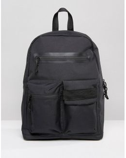 Backpack In Black With Front Pockets