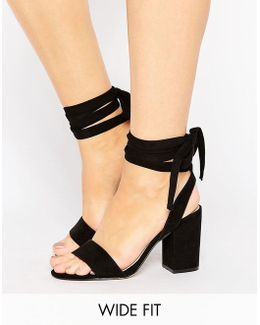 Holding On Wide Fit Tie Leg Sandals