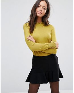 Cute Frill Knitted Jumper