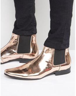 Chelsea Boots In Metallic Copper