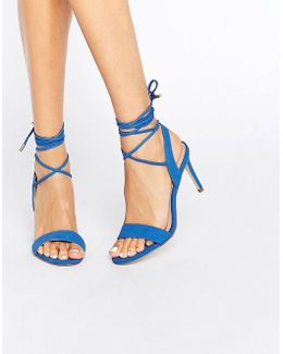 Marilyn Tie Up Blue Leather Heel