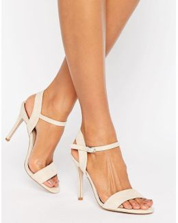 Nude Suede Barely There Heeled Sandal