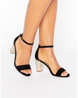 Pearl Mid Heel Sandal