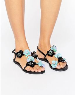 Forever Flower Corsage Sandals