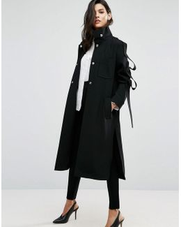 Duster With Loop Sleeve Detail
