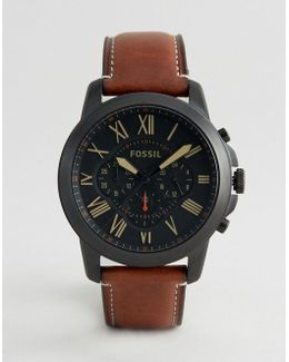 Fs5241 Grant Leather Watch In Tan