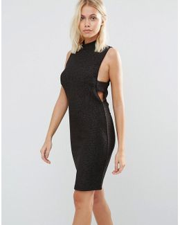 Sleeveless Bodycon Dress With Cut Out Sides