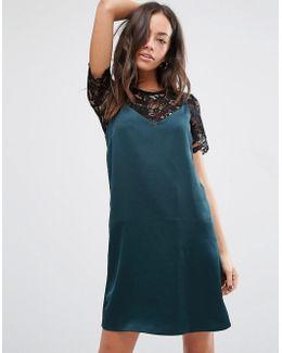 2 In 1 90s Lace Slip Dress
