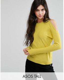 Jumper With Cold Shoulder