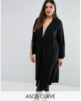 Duster Coat With Vent Sleeve