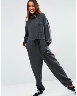 Premium Roll Neck Jersey Jumpsuit