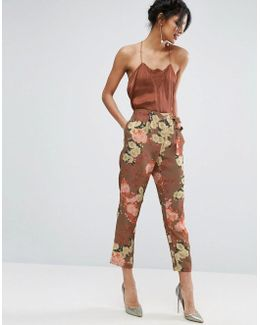 Occasion Floral Tie Peg Trousers