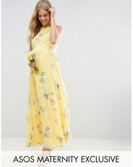 Wedding Maxi Dress In Sunshine Floral Print