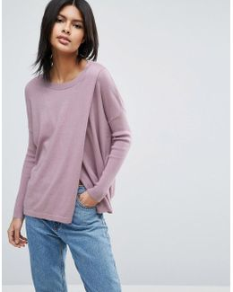 Lounge Jumper With Cross Over Front