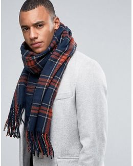 Scarf In Woven Check