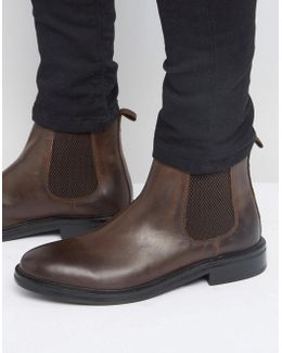 Chelsea Boots In Brown Leather With Heavy Sole