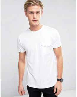 T-shirt With Military Flap Pocket