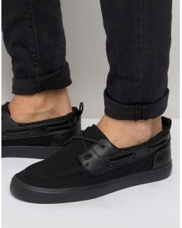 Boat Shoes In Black