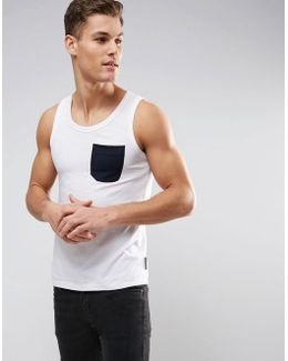 Tank With Contrast Pocket