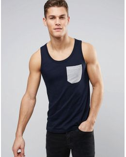 Vest With Contrast Pocket