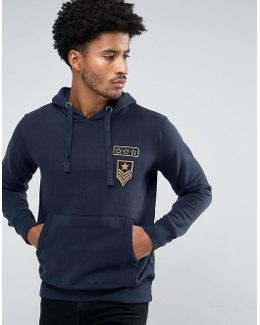 Sweat Pull Over With Pocket And Space Badge Co-ord