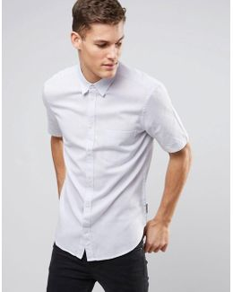 Linen Shirt With Short Sleeves